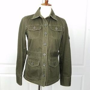 Banana Republic Utility Military Cotton Jacket XS